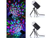 2 X 3W LED Crystal Rotating RGB Stage Light Lamp DJ Disco Voice-activated 9SIV05727M9686