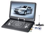 """10.1"""" portable DVD player with game, FM, TV, USB & MC card port"""