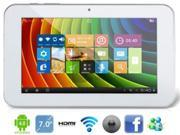Ampe A76 Fashion Dual Core 7 Inch AllWinner A20 1.2GHz Tablet PC 512MB 8GB Android 4.0 WIFI