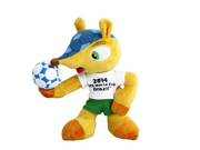100% Polyester 8 Inch Fuleco Plush Toy Hold Ball Pose 20cm 2014 World Cup Mascot Mascot of 2014 Fifa World Cup Official Licensed Product Armadillo the Official 9SIV07M3GV2546