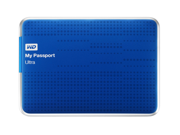WD My Passport Ultra 1TB Portable External Hard Drive USB 3.0 with Auto and Cloud Backup - Blue (WDBZFP0010BBL-NESN)