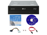 LG WH14NS40 14X M Disc Blu ray BDXL CD DVD Internal Burner Writer Drive FREE 1pk Mdisc BD Cyberlink Software Disc Cables Mounting Screws