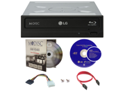 LG WH16NS40 16X M Disc Blu ray BDXL CD DVD Internal Burner Writer Drive FREE 1pk Mdisc DVD Cyberlink Software Disc Cables Mounting Screws