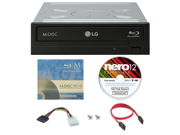 LG WH16NS40 16X M Disc Blu ray BDXL CD DVD Internal Burner Writer Drive FREE 3pk Mdisc BD Nero Software Disc Cables Mounting Screws
