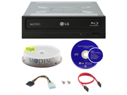 LG WH16NS40 16X M Disc Blu ray BDXL CD DVD Internal Burner Writer Drive FREE 15pk Mdisc DVD Cyberlink Software Disc Cables Mounting Screws