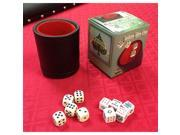 Spinettis VEGAS GAMING SUPPLIES DELUXE Bar Style DICE CUP With 5 Regular & 5 Poker Dice 9SIA3VC1T82263