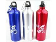 750ml Cycling Camping Bicycle bike kettle Sports Aluminum Alloy Water Bottles With Carabiner