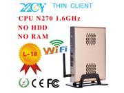 Discount Electronics On Sale Intel atom N270 Fanless mini pcs desktop computer networking barebone N270 motherboard support video film can optional HDD/RAM.