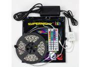 SUPERNIGHT 5M 5050 300 LEDs RGB Light Strip Flexible Lamp waterproof With 44 Key IR Remote and 12V Power Supply