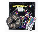 SuperNight 300 LEDs 5M 5050 SMD RGB Red Green Blue Color changing Light Strip Flexible Non-waterproof Lamp with 44 Key Remote