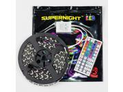 SUPERNIGHT16.4ft 5M 3528 SMD 300 LED RGB Strip Light Kit Non-waterproof Flexible Lamp with 44 Key IR Remote Controller