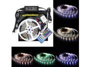 SuperNight® RGBW RGB+Cool White LED Strip Lighting Kit 16.4ft 5M 5050 300leds Non-waterproof Color Changing RGBW LED Flexible Lights + 40Key RGBW Remote Controller + 12V 5A Power Supply