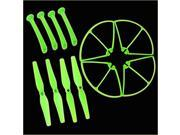 SuperNight®  Luminous Color, 4pcs Main Blade Propeller + 4pcs Propeller Protectors Blades Frame + 4pcs Landing Skid For Syma X8 X8C X8W RC Quadcopter Spare Part
