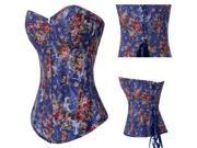 Hot sale Latest Women Wedding Dress Corset Retro European Palace Style Corset Floral Blue