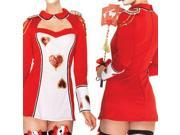 Dear-Lover Women's 3PC Sweetheart Policewoman Cosplay Costume Sexy Costumes - One Size Red