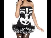 Dear-Lover Women's Bone Printed Fever Skeleton Halloween Costume