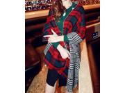 Dear-Lover Women's Winter Double-faced Thick Knitting Wool Lattice Long Scarf - Sexy Scarves