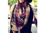Dear-Lover Women's European Lady Lattice Pattern Long Shawl - Fashion Scarves