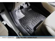 MAXFLOORMAT All Weather Custom Fit Floor Mats Liner MDX Front Set Black