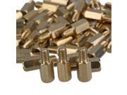 50 PCS 12mm+6mm Brass Hex Standoff Screw Pillars M4 PC Case Motherboard Risers