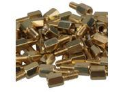 50 PCS 6mm+6mm Brass Hex Standoff Screw Pillars M3 PC Case Motherboard Risers