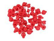 50pcs Caplugs 9mm Dia Round Tubing Cap Count Rubber Dustproof Cylinder Plug Red