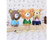 3pcs Rural  Resin Doll  Bears Suitable for Home Decoration Craft Ornaments Gift 9SIV0S64AT1166