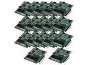 BQLZR 433MHz Super regenerative RF Wireless Receiver Module Fixe Code 4CH Set of 20