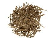 BQLZR 300pcs 18mm Round Head Antique Pure Copper Furniture Miniature Nail Brass