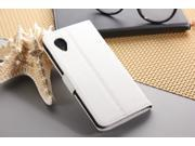 Euroge Tech® Litchi Skin Flip Leather Pouch Stand Cases Cover For Google Nexus 5(white)
