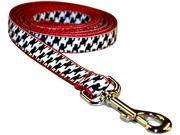 Sassy Dog Wear Black White Houndstooth Adjustable Dog Leash Made in USA