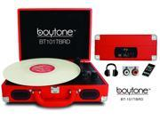 Boytone BT 101TNRD Mobile Suitcase Turntable Red