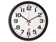Chicago Lighthouse Bold Quartz Contract Clock 13 3 4 Black