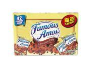 Kellogg's Famous Amos Cookies, Chocolate Chip, 2 oz Snack Pack, 42 Packs/Carton