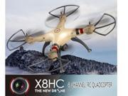 Syma X8HC 2.4GHz 4CH RC 6 Axis Gyro Quadcopter Drone RTF 2.0MP Camera Barometer Set Height Headless Mode 3D Rollover