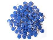 100pcs 125Khz RFID Proximity IC Token Tag Key Ring Keyfobs Blue