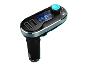 Smartphone Bluetooth MP3 Player BT66 Handsfree Car Kit + Dual USB Charger + FM Transmitter Handsfree Support TF Card