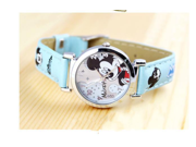 Cartoon Mouse Children Watches for Boys and Girls Leather Strap Quartz Wristwatches
