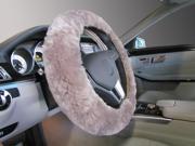 Steering Wheel Cover made from Luxurious Australian Merino Sheepskin - Coffee