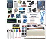 UNO R3 Starter Kits 1602 LCD Screen Servos Stepper Motor Ultrasonic Range Finder Dot Matrix for Arduino