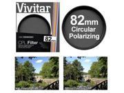 Vivitar 82mm Circular Polarizer Glass Filter 9SIA63G20R7511