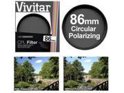 Vivitar 86mm Circular Polarizer Glass Filter 9SIA63G20R7505