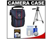 M-ROCK Access 2010 Mesa Verde Digital Camera Case (Navy) with Case + Tripod + Accessory Kit