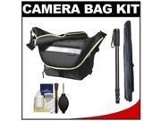 Vanguard Sydney 22 Messenger Digital SLR Camera Bag/Case (Olive) with Monopod + Accessory Kit