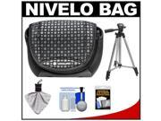 Vanguard Nivelo 15 Mirrorless Interchangeable Lens Digital Camera Case (Black) with Tripod + Accessory Kit