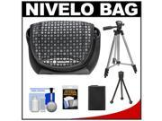 Vanguard Nivelo 15 Mirrorless Interchangeable Lens Digital Camera Case (Black) with NP-FW50 Battery + Tripod + Accessory Kit