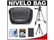Vanguard Nivelo 18 Mirrorless Interchangeable Lens Digital Camera Case (Black) with BLS-1/BLS-5 Battery + Tripod + Accessory Kit