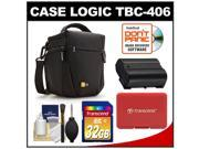 Case Logic TBC-406 Digital SLR Camera Holster Case (Black) with 32GB Card + EN-EL15 Battery + Accessory for D7000, D7100, D600, D800