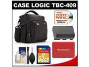 Case Logic TBC-409 Digital SLR Camera Shoulder Case (Black) with 32GB Card + LP-E6 Battery + Accessory Kit for Canon EOS 6D, 7D, 5D Mark II III