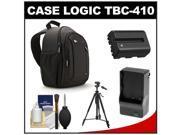 Case Logic TBC-410 Digital SLR Camera Sling Case (Black) with NP-FM500H Battery & Charger + Tripod + Kit for Sony Alpha A57, A58, A65, A77, A99